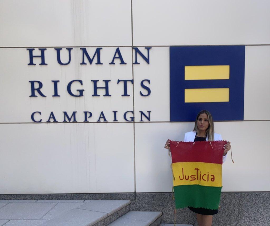 Carolina Ribera en ambientes de HRW con sede en Nueva York / TWITTER