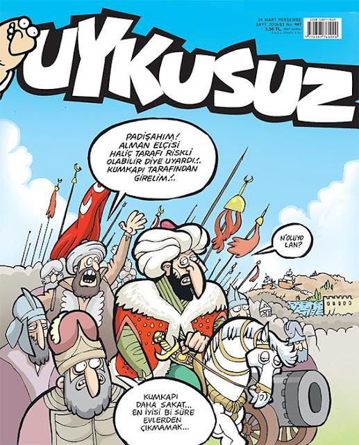 Uykusuz Dergisi - 24 Mart 2016 Kapak Karikatürü