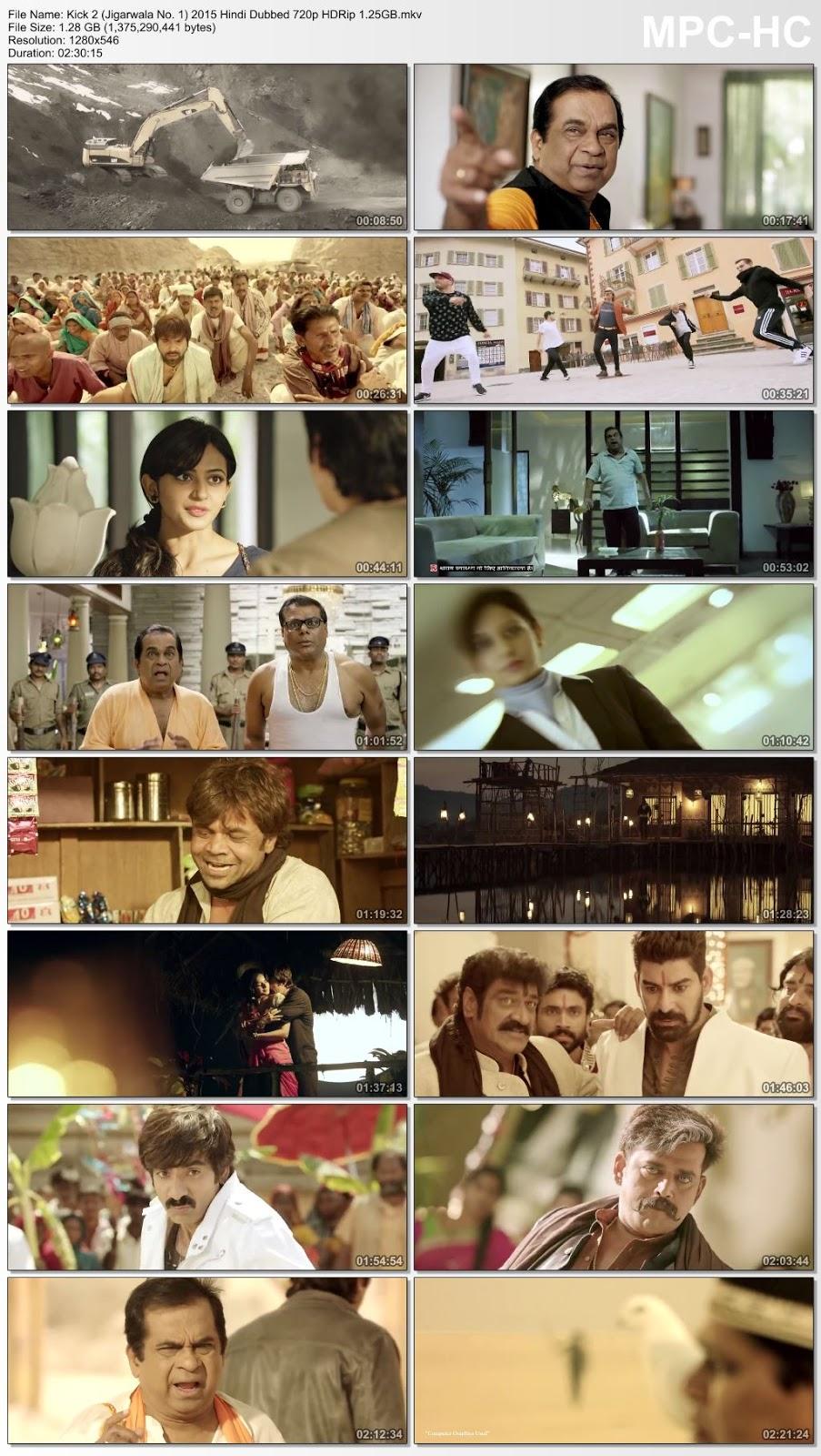Kick 2 (2015) Hindi Dubbed 720p HDRip 1.25 GB Desirehub