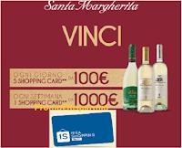 Logo Concorso Santa Margherita ''Brinda alle tue passioni'' : vinci Card Idea Shopping da 100 e 1000 euro
