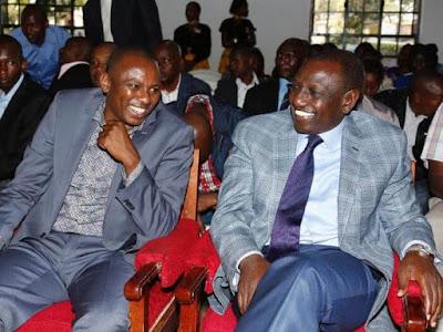 Kikuyu Mp Kimani Ichungwa with Deputy President William Ruto