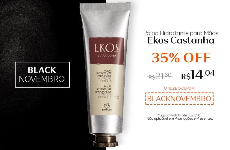 Polpa hidratante para mãos Ekos Castanha com 35% OFF