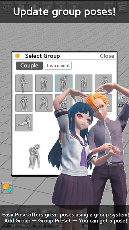 Easy Pose v1.5.30 MOD, PRO Unlocked - Tạo dáng tư thế cho họa sĩ trên điên thoại