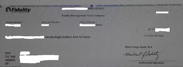 米国で振り出されたドル建て小切手
