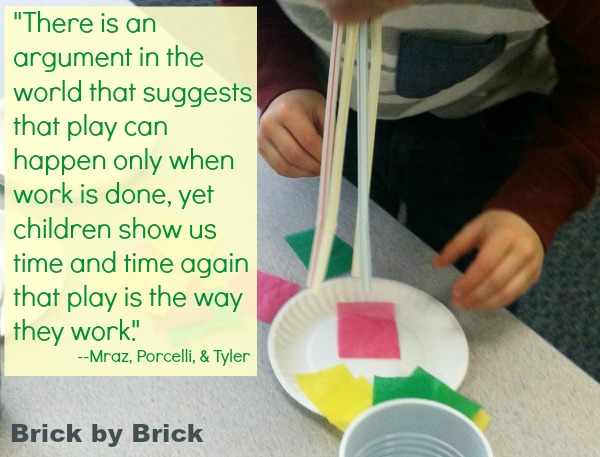 Play Is Way They Work quote (Brick by Brick)