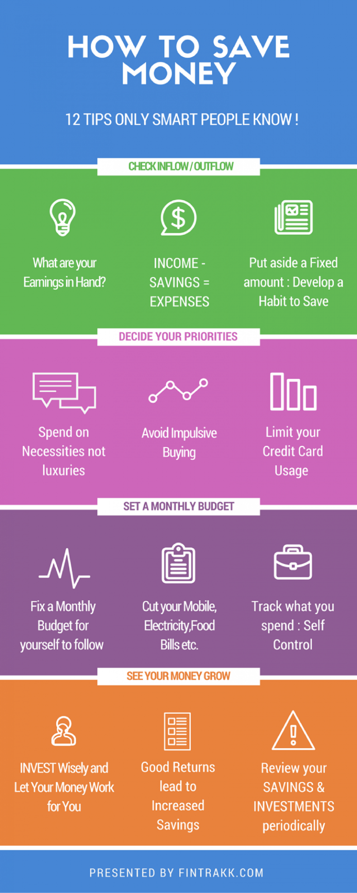 How to Save Money? 12 Tips Only Smart People Know! #infographic