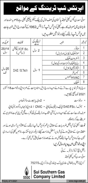 Sui Southern Gas Company - SSGC jobs in Pakistan 2021