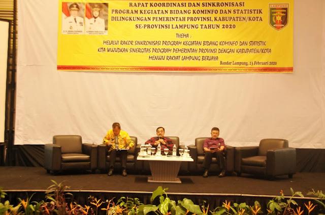 Sinergi Program EGovernment, Dinas Kominfotik Provinsi Lampung Gelar Rapat Koordinasi Dengan Dinas Kominfo Kabupaten/Kota Se-Lampung