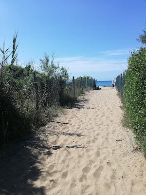 arrivando in spiaggia alle rocchette