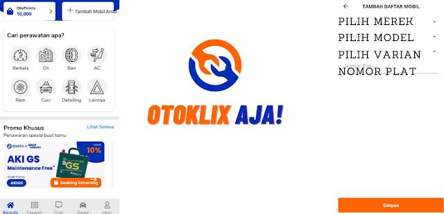 daftarkan mobilmu di Otoklix