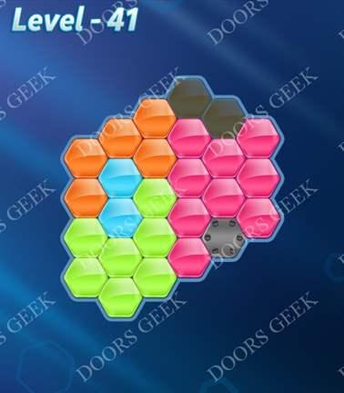 Block! Hexa Puzzle [5 Mania] Level 41 Solution, Cheats, Walkthrough for android, iphone, ipad, ipod