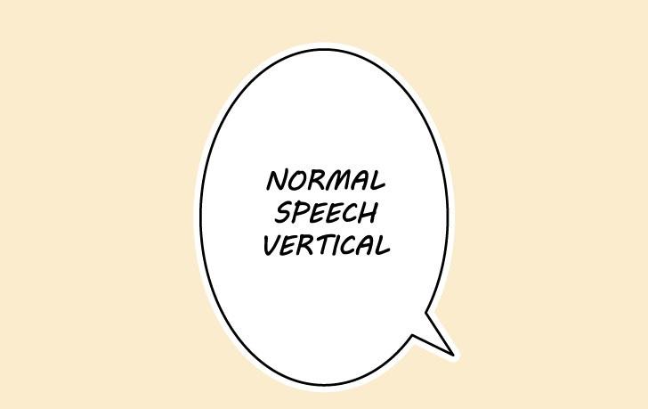 Gelembung ucapan vertikal manga