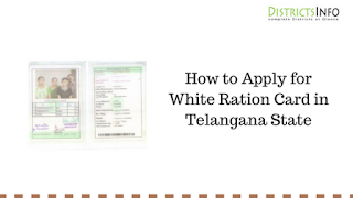 How to Apply for White Ration Card in Telangana State