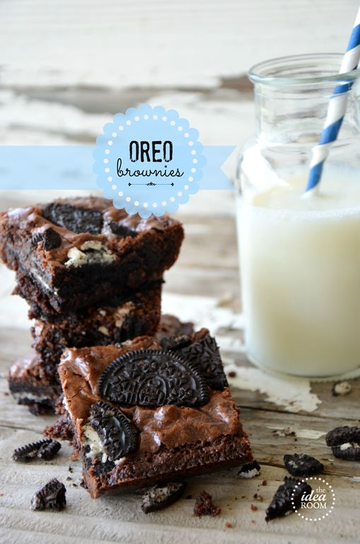 We recently attended a family party and were in charge of bringing a dessert.  So of course we opted for a classic Brownie but spruced it up with some crushed Oreos.  Brownies are probably one of my very favorite desserts.  I love how dense, rich and chocolately they are.  Combine that with some Oreos to make Oreo Brownies and you are bound to have a crowd pleaser.