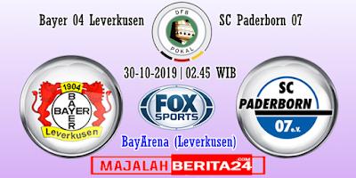 Prediksi Bayer Leverkusen vs SC Paderborn — 30 Oktober 2019