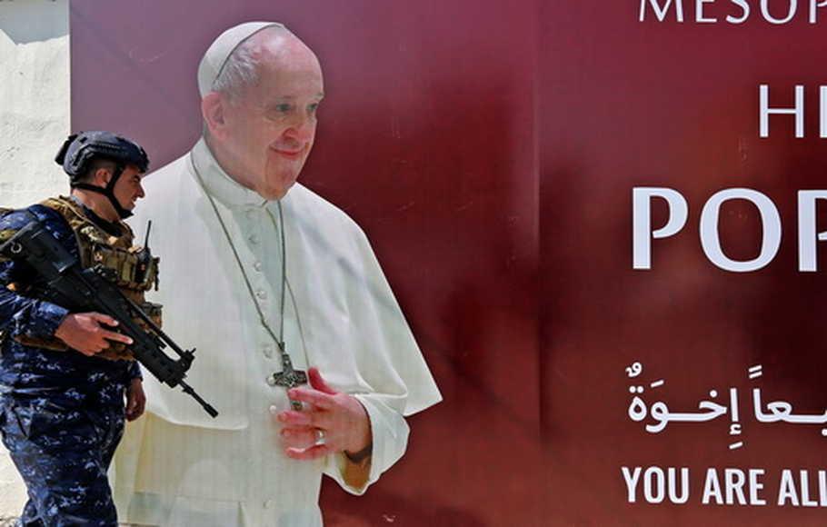 Mohon Doanya, Irak Diserang Rudal Sehari Sebelum Kedatangan Paus Fransiskus