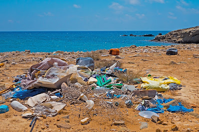 Vermüllter Strand