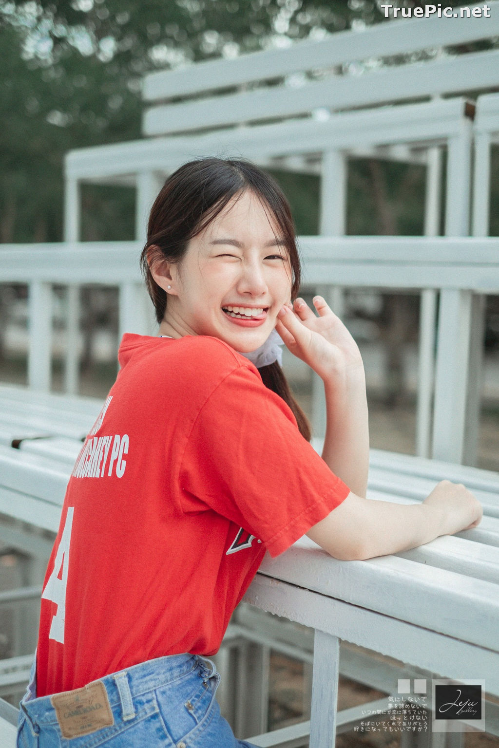 Image Thailand Cute Model - Fahfab Thunchanok - Red Angels - TruePic.net - Picture-2