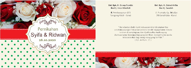 Download emplate Undangan Pernikahan CDR CorelDraw