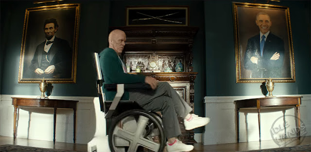 FOX Deadpool 2 Trailer Stills Deadpool in Professor X's Chair