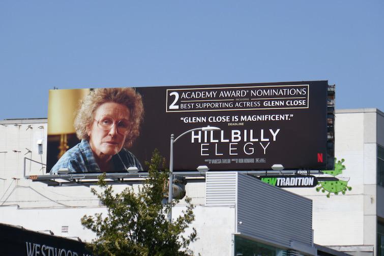Glenn Close Hillbilly Elegy Oscar nominee billboard