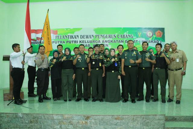 Pelantikan Dewan Pengurus Cabang Himpunan Putera Puteri Keluarga Angkatan Darat (HIPAKAD) Kab. Klaten