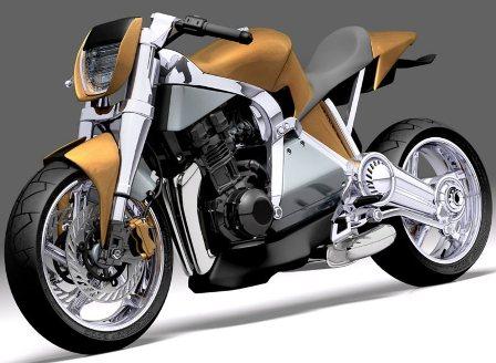 Caf E Futuristic Hybrid Motorcycle Concept