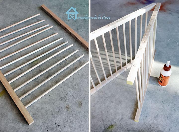 assembling the rack