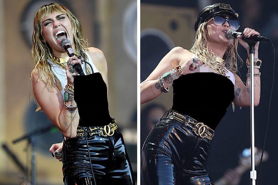 Miley Cyrus Tayang Payudara