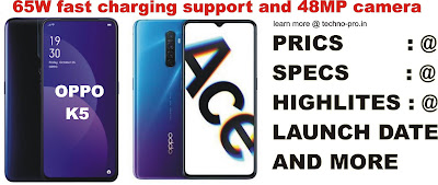 Oppo Reno Ace and Oppo K5 launched check price specs here
