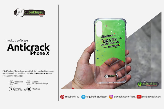 Mockup Custom Case Anticrack iPhone X