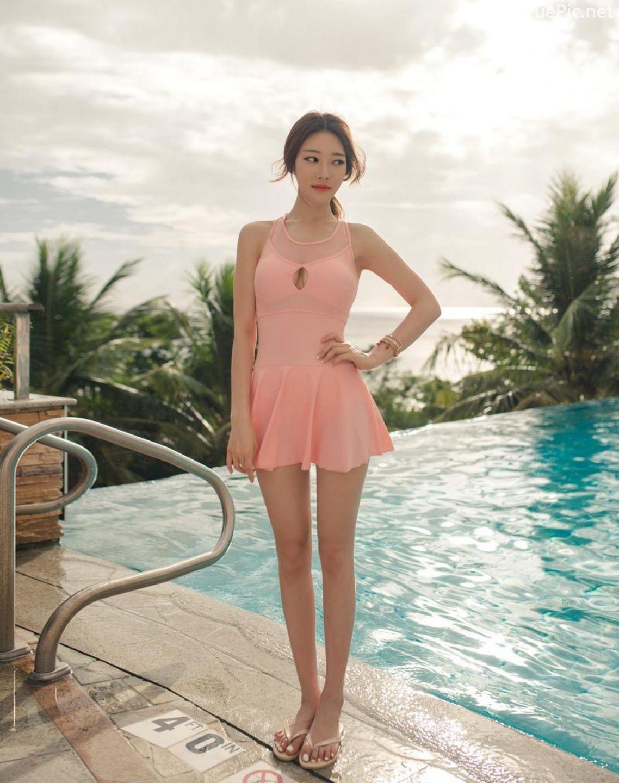 Korean model fashion - Park Jeong Yoon - Amanda One Piece Swimsuit - Picture 5