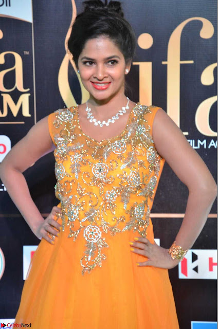 Keerthi in Orange Anarkali Dress at IIFA Utsavam Awards 2017  Day 2  04.JPG