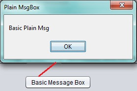 Plain Message box in Netbeans