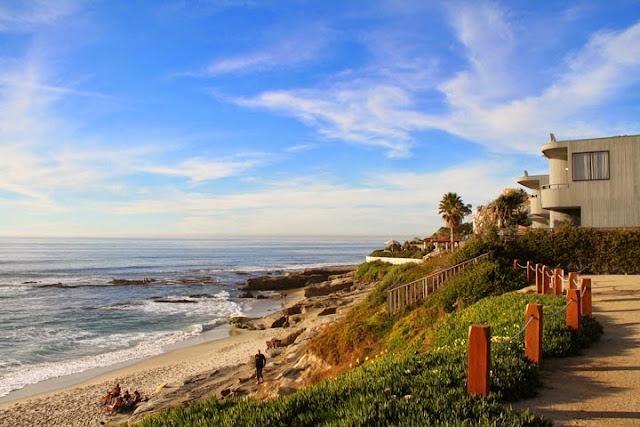 Praia La Jolla na Califórnia