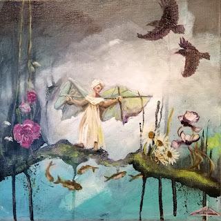 Portrait, Galleriayoellploger, Ayoe, Lise, Lysgaard, Pløger, Menorca pulsar, portrait, woman, ravens, flowers, daisy, fish, art, kunst,, landskab, landscape,  paint, galeri, colourful