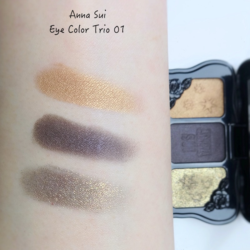 Anna Sui Eye Color Trio 01 swatches