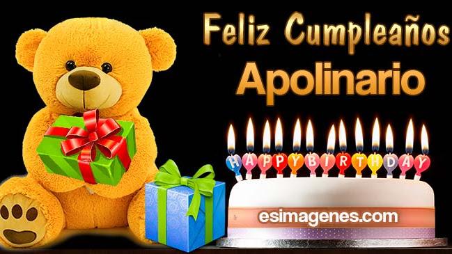 Feliz cumpleaños Apolinario