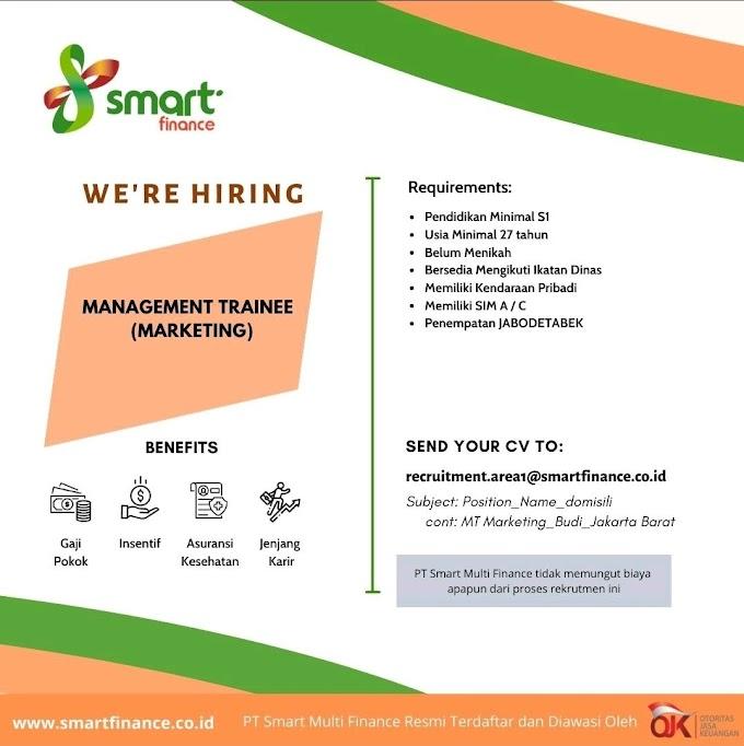 Loker Smart Finance Hiring Buat Management Trainee ( Marketing)