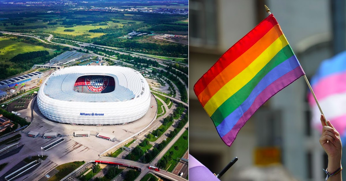 UEFA Refused Request To Light Up Allianz Arena In Rainbow Colours