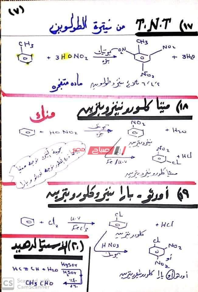 تجميع مراجعات الكيمياء للثانوية العامة 2021 -----2020-7