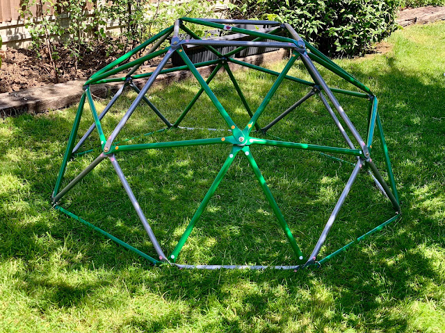 Assembled Deimos Dome Climbing Metal frame for children