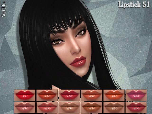 Губная помада для The Sims 4 со ссылками на скачивание