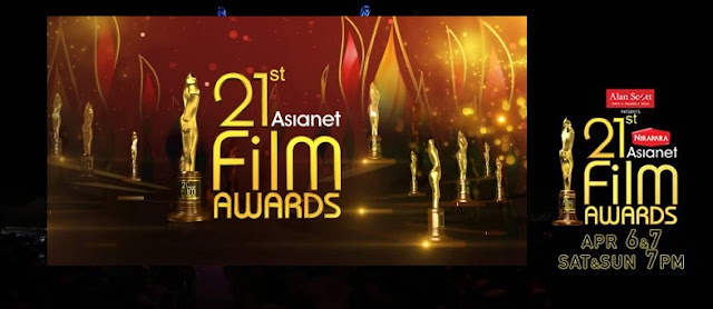 Asianet Film Awards 2019 -telecast of the show on April 6 & 7, 2019 on Asianet