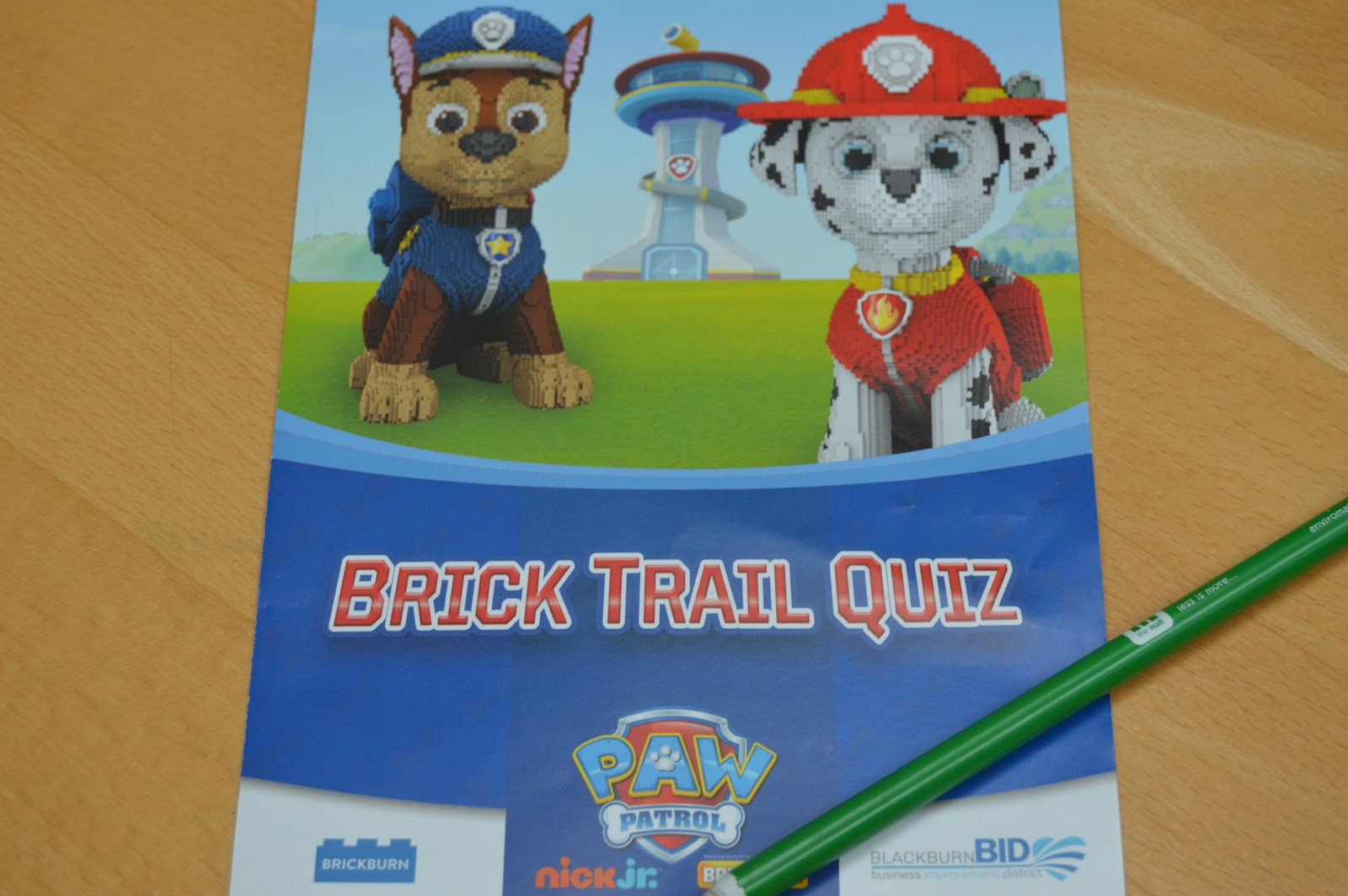 brick trail quiz and map sheet