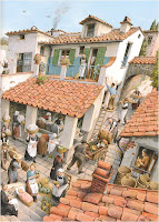 Pinocchio in the village