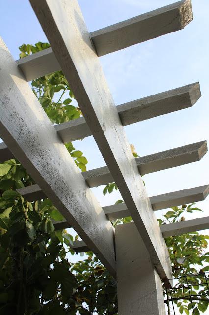 DIY over gate trellis