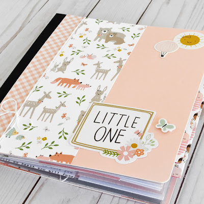 Baby Girl Mini Album Kit by Wendy Sue Anderson for Button Farm Kit Club