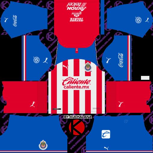 Chivas De Guadalajara Kits 2019/2020 - Dream League Soccer
