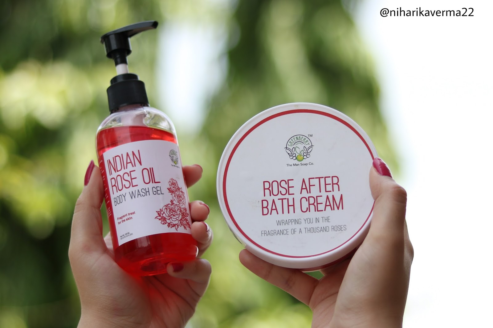 Greenberry Organics Rose Body Wash and Cream